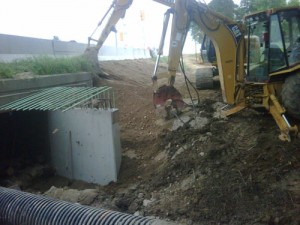 Culvert Excavation by Weather Restoration Services Inc.