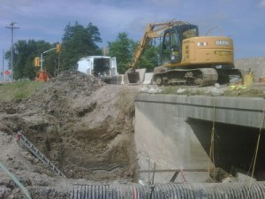 Footing excavation by Weathertech Restoration Services Inc.